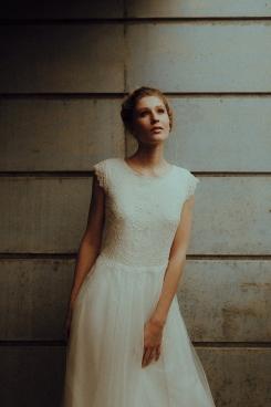 Vorderansicht Kleid maßgeschneidert Designerkleid
