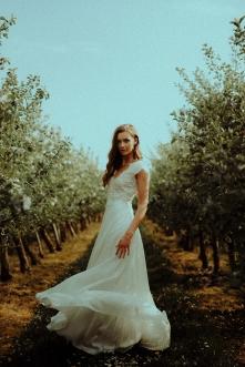 Brautkleid Nolana aus Seide und Spitze